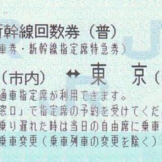10月11日乗車分の東海道新幹線(乗車券+特急券)京都→東京