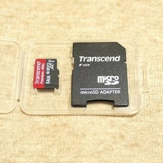 【中古】Transcend microSDXCカード64GB(動...