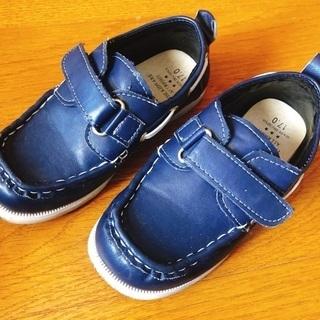17cm 紺色の靴