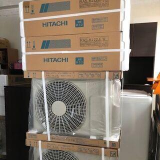 【未使用 2台セット】2.2kW 6畳用冷暖エアコン 2019年...