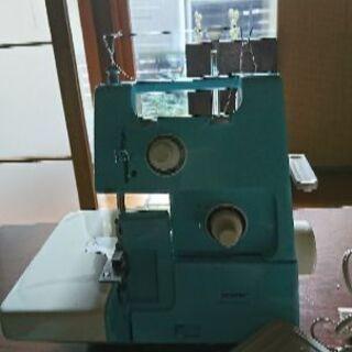 2本糸縁かがり縫いミシン。ホームロック