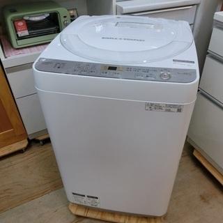 SHARP 6.0㎏ 穴なしステンレス槽 全自動洗濯機 ES-G...