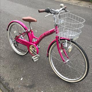 【タイヤ新品・お買い得】22インチ・子供用自転車・変速あり・中古