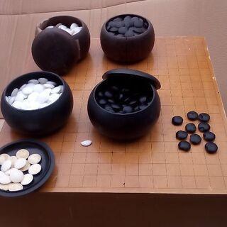 碁盤囲碁イゴバン石割れありセット1万円売