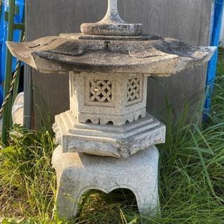 石灯篭 御影石 庭 オブジェ 高さ86cm
