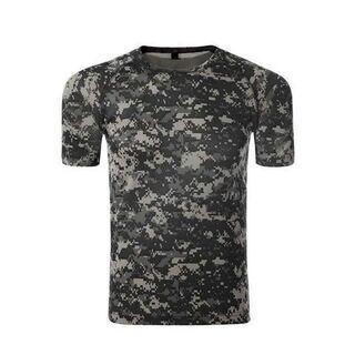 アウトドア 半袖Tシャツ 迷彩柄 タクティカル