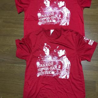 新品未使用‼️日ハムTシャツ赤LとSサイズ2枚¥1500