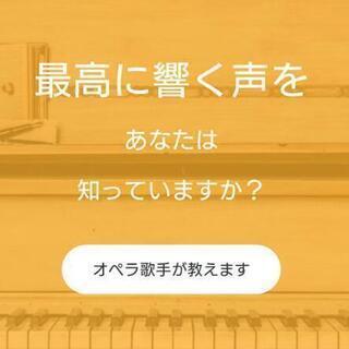 プロの歌手になれるように指導いたします。