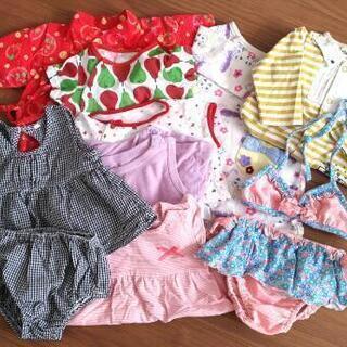 女児ベビー服 ロンパースなど9着+おまけにスタイ×4