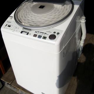 中古品 SHARP/シャープ 8㎏ 全自動洗濯乾燥機 ES-TX...