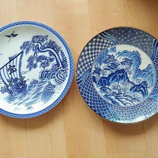 【美品】和柄の大皿【2枚セット】