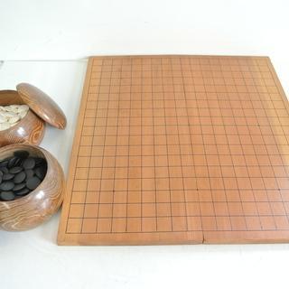 囲碁初めて見ませんか? 囲碁盤と碁石のセット コンパクトサイズで...