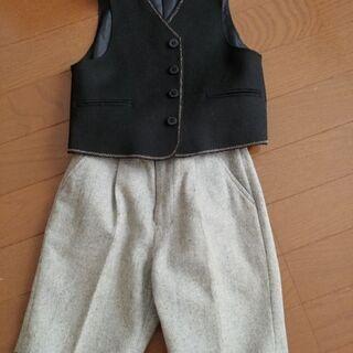 男の子用のベストとズボンのセット100cm