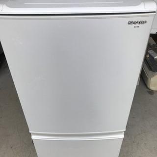 SHARP 2ドア 冷凍冷蔵庫 SJ-14S-W 137L 20...