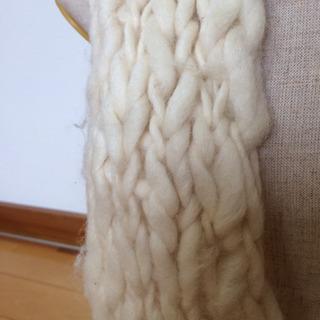 長いマフラー  270cm オフホワイト - 服/ファッション