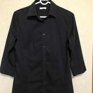 UNIQLOレディースシャツ黒7部袖