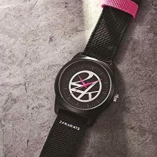 24KARATS ブラックミリタリー腕時計