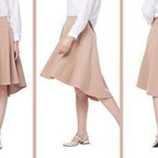 新品★ Aラインスカート  ひざ丈  通勤 上品 ★ 着やせ