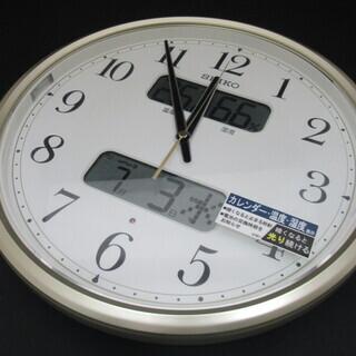 美品 SEIKO セイコー 電波掛時計 KX384S 壁掛…