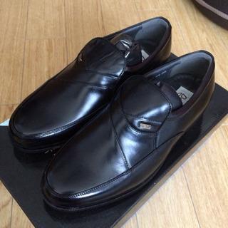 値下げ!新品 日本製■bison 靴 25.5cm■ビジネス 黒...
