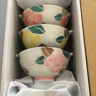 花柄お碗 陶器 未使用