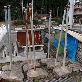 福島県発 中島村発 単管の支柱 高さ約160cm 大量まとめて ...