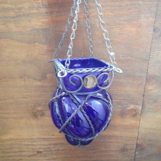 中古品 吊り花瓶 吊り下げ花瓶 花器 花入れ