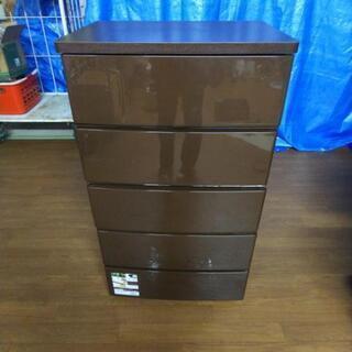 衣装収納 チェスト ウッドトップチェスト 5段 ブラウン