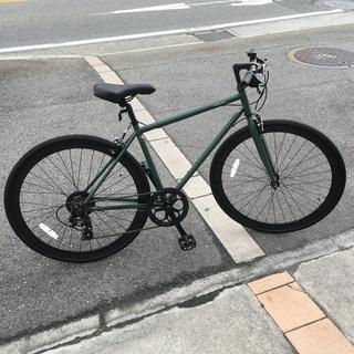 《新車》クロスバイク backpacker. マットカーキ