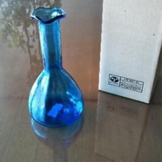 未使用◆東洋ガラス製◆花瓶 ブルー◆