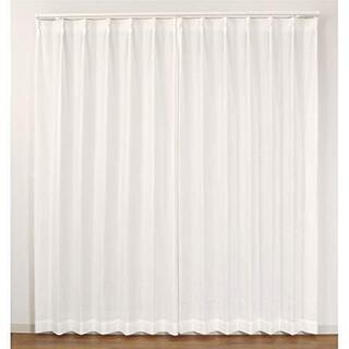 ミラーレースカーテン ホワイト 2枚セット 太陽光を反射させ、家...