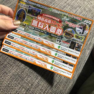 城島高原入場無料券4枚