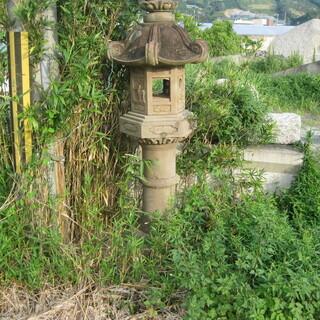石燈篭 高さ約2メートル横幅約60センチ 和歌山県広川町発 引き...