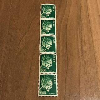 🉐お得🉐500円切手×5枚 2,500円分 未使用品