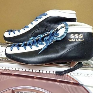 sss スケート靴 ブーツ 27cm ショート スピード アイス...