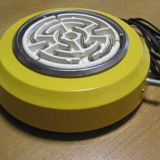 電気コンロ レトロ 黄色がかわいい