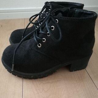 🍎【新品同様】NICE CLAUP 女の子黒ブーツ20 cm