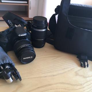 Canon kiss x3 ダブルレンズ 鞄、三脚付き