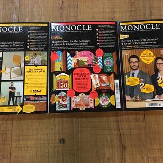 MONOCLE モノクル 3冊セット/ライフスタイルマガジン/v...