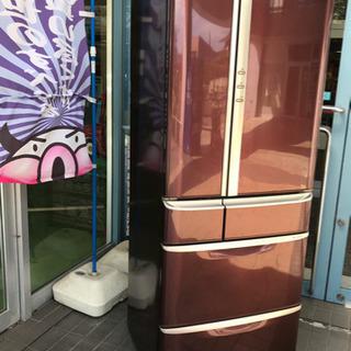 【美品】ナショナル 冷凍冷蔵庫525L 6ドアNR-F530XV...