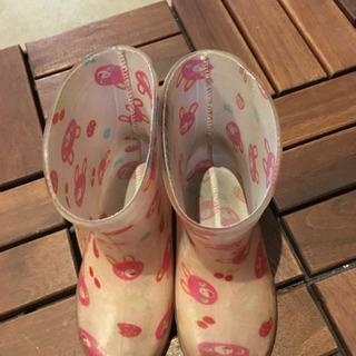 ピンク 可愛い 長靴 14cm