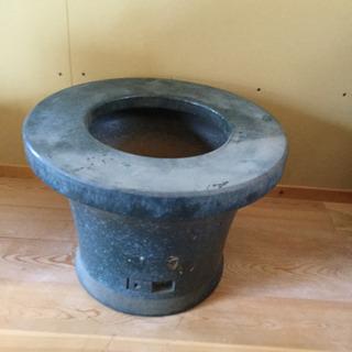 (F)シンプルな青色火鉢