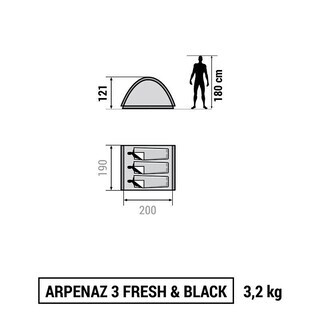 ★新品 3人用 テント フランス レア ブランド 遮熱・遮光 SPF50+ - 売ります・あげます