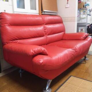 【取引中】2人掛けソファー RED【価格交渉歓迎】