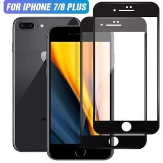 iPhone7/8 plus ガラスフィルム2枚セット2.5Dラ...