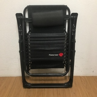 FLAMROSE 枕一体型折り畳みリクライニングチェア ¥3,500 - 売ります・あげます