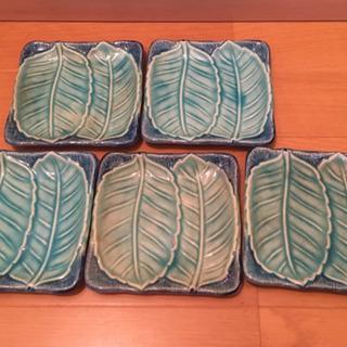 500円 昭和レトロ 葉っぱデザインの小皿 5枚セット