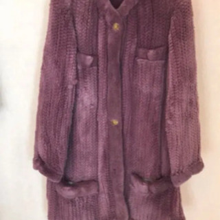 ファーコート 紫