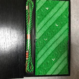 お値下げ中 新品振り袖用絞り帯揚げ、帯締めセット