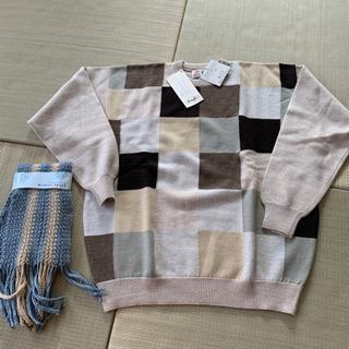 メンズセーターとマフラー